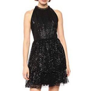LIKE NEW Shoshanna Black Sequin Hollybrook Dress